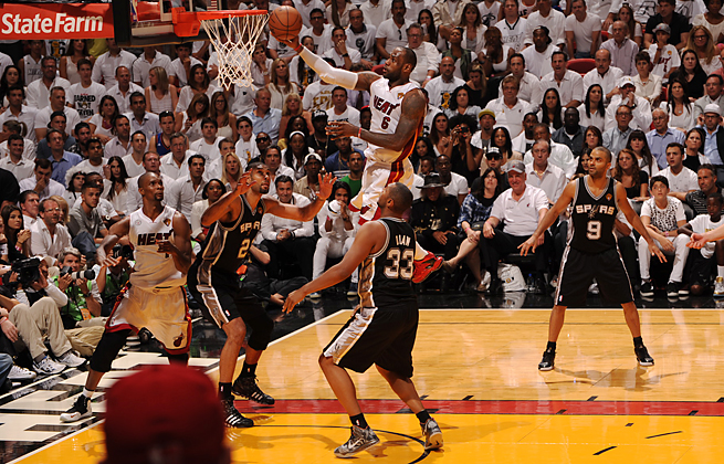 LeBron James struggled through three quarters but finished with a triple-double in Miami's Game 6 win.