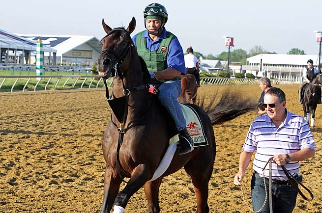 Itsmyluckyday finished second at the Preakness Stakes after a 15th at the Kentucky Derby.