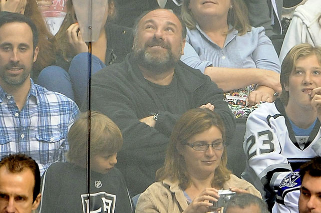 James Gandolfini watches Game Four of the Western Conference Finals between the Phoenix Coyotes and the Los Angeles Kings at Staples Center in Los Angeles. The Kings lost 2-0.