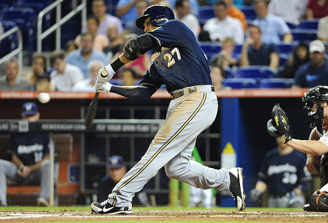 The chance that Carlos Gomez keeps up his .370 BABIP is slim, making him a great sell-high candidate.