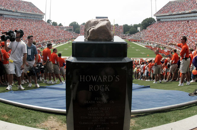 Clemson released a security video investigators believe is linked to the vandalism of Howard's Rock.