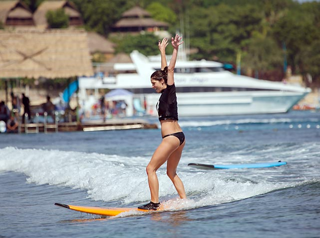 The <italics>Twilight</italics> actress at the Oakley Bali Pro/Learn to Surf event in Benoa, Bali, Indonesia.