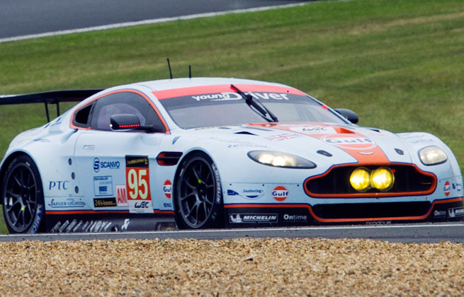 The 34-year-old Simonsen died at the hospital Saturday after his Aston Martin No. 95 crashed out about 10 minutes after the start of the race.