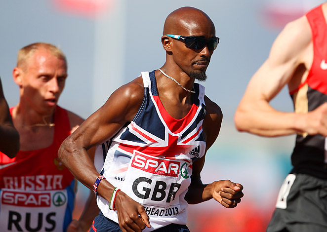 Mo Farah's win helped Britain finish Day 1 of the European Team Championships in third place.