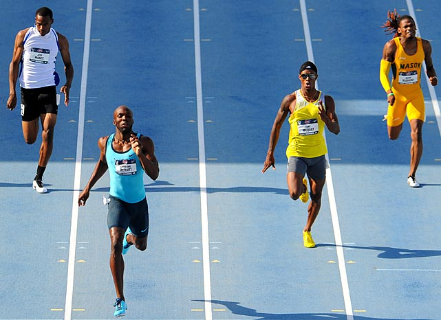 LeShawn Merritt showed his winning form in taking the 400-meter dash title with a time of 44.21.