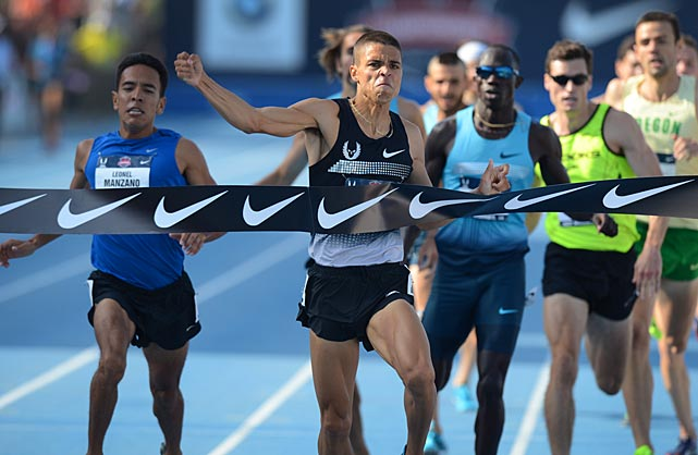 Matthew Centrowitz punched his ticket to Moscow by winning the 1,500.