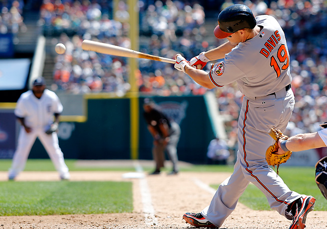 Orioles' slugger Chris Davis is our first-half MVP and remains on a prolific offensive pace in 2013.