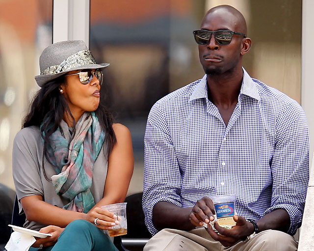 Garnett and his wife, Brandi, attend Day 11 of the 2011 U.S. Open.