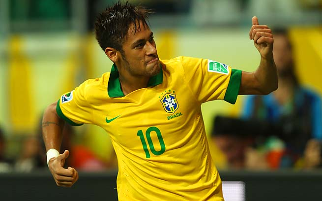 Neymar and Brazil will face Uruguay in the Confederations Cup semifinals.
