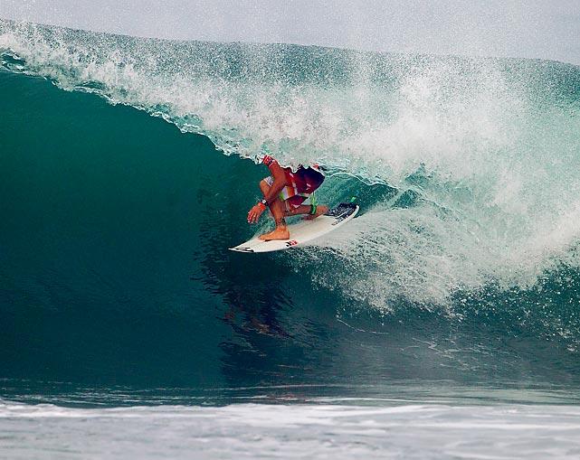 Joel Parkinson of Australia surfs during a contest in Denpasar, Bali, Indonesia.
