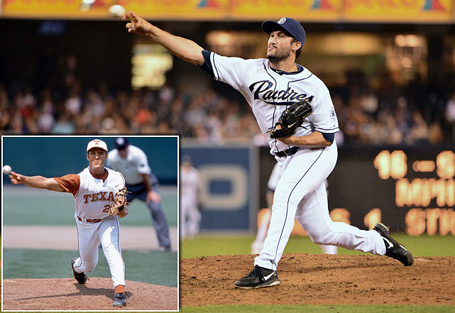 Widely regarded as one of the best collegiate closers of all-time, Street pitched Texas to the 2002 national championship. In addition to winning the Most Outstanding Player Award and setting a World Series record for saves, Street, in 2010, was named to the NCAA College World Series Legends team. Now a member of the San Diego Padres, Street was named American League Rookie of the Year in 2005 while with the Oakland Athletics.