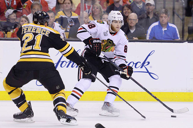 Patrick Kane, a former No. 1 overall pick, finished with nine goals and 10 assists in the playoffs.