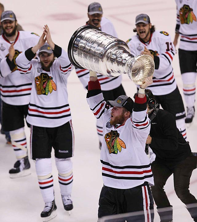 The Chicago Blackhawks hoisted hockey's ultimate prize after dominating a lockout-shortened 48-game regular season and a sometimes bumpy ride in the playoffs that ended with a thrillng, hard-fought Stanley Cup Final against the Boston Bruins.