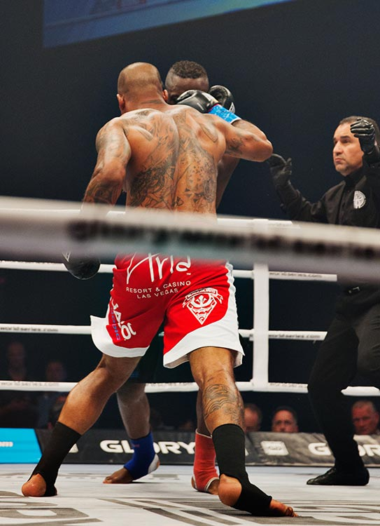 Tournament Final: Tyrone Spong (blue tape) vs. Danyo Ilunga.