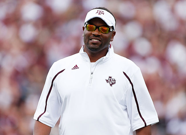 "Texas A&M's Kevin Sumlin tweets ""YESSIR!"" after a recruit offers his verbal commitment to the Aggies."