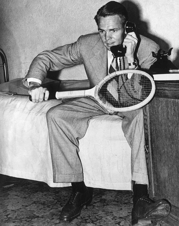 Few adjustments were made to elite-level rackets between the late 1870s, when frame size and shape were largely standardized, and the 1960s. The Jack Kramer Autograph, launched by Wilson in 1948, enjoyed a run of some 35 years as the most popular wooden racket. Its namesake was a a top player in the 1940s and '50s and a key figure in the development of the modern tour.