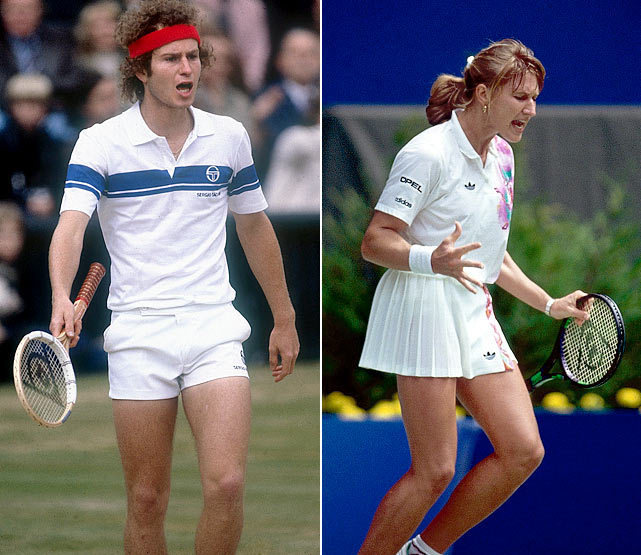 McEnroe and Graf both enjoyed enormous success with Dunlop models. McEnroe dominated with his touch and accuracy, while Graf ruled the WTA with her powerful forehand.