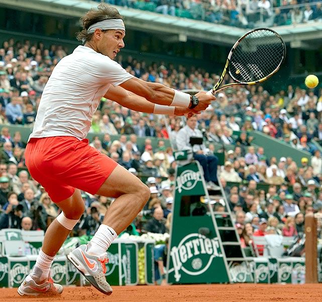 Nadal headlines the current professionals who endorse Babolat. In a 2011 story, <italics>The New York Times</italics> noted that Nadal's racket, the AeroPro Drive GT, is lighter and has a smaller grip than those of Roger Federer and Novak Djokovic. Nadal's racket is designed to allow him to generate his trademark heavy topspin on his ground strokes.