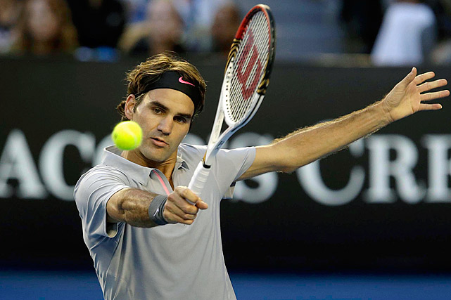 """Federer, a 17-time Grand Slam champion, plays a heavy Wilson model that has a relatively small head. """"I've tried bigger,"""" Federer said in 2011. """"The problem is we don't have enough time to do racket testing, you know? I'm always talking to Wilson about: 'What else do you have? What else can we test?' And who knows? Maybe down the road, I'll change again."""""""