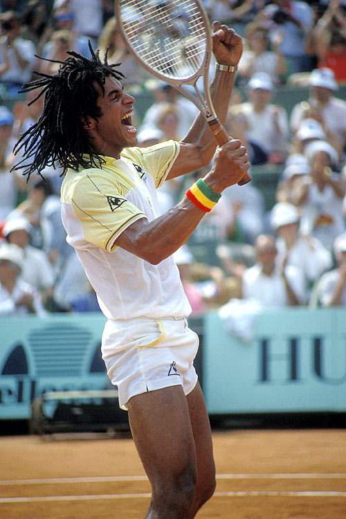 Noah is the last player to win a Grand Slam tournament with a wooden racket, the 1983 French Open.