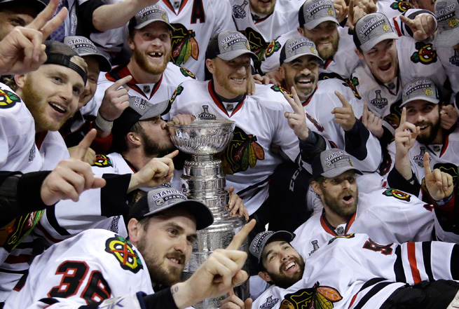 The Chicago Blackhawks' stunning comeback against the Boston Bruins was a widely-viewed TV event.
