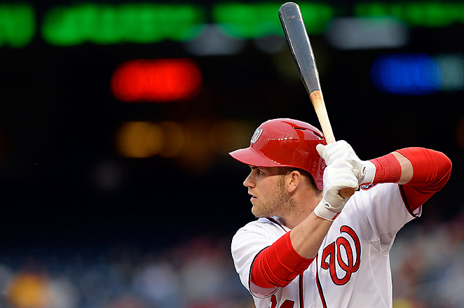Bryce Harper had missed 25 straight games for the struggling Nationals going into Monday night.