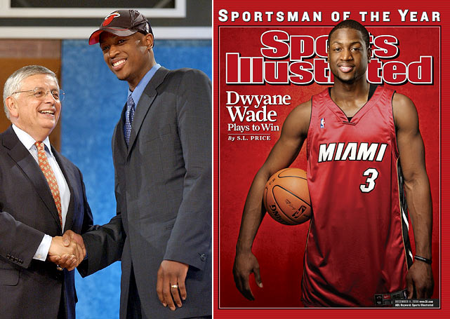 Wade is the only top 5 pick from 2003 who still plays for the club that drafted him, and the Heat have greatly benefited. Wade led the league in scoring with 2,386 points in the 2008-09 season, and has scored a total of 16,453 points for Miami. Since James and Bosh have joined the mix, Wade has made more than 50 percent of his shots from the floor.