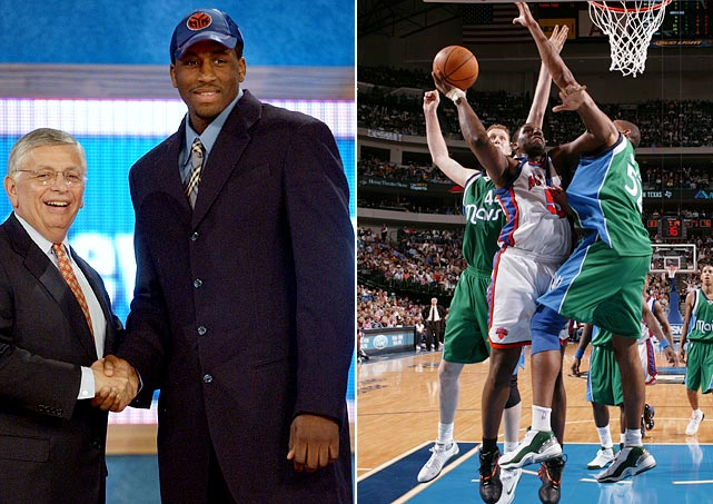 The Knicks picked power forward Mike Sweetney ninth. He switched to center and saw some improvement in his second year, but weight issues and declining play decreased his minutes after he was traded to Chicago. Sweetney played two years for the Bulls, but did not play from 2007-2009. Twice Sweetney unsuccessfully tried out for the Celtics before agreeing to join Puerto Rico's league, BSN, for Vaqueros de Bayamon.