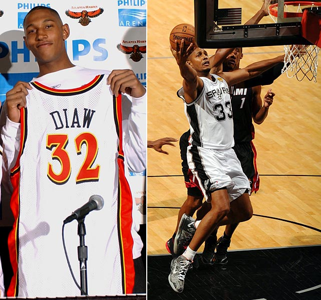 Diaw played two seasons in his native France before being selected by the Hawks in 2003. The big Frenchman won the NBA's Most Improved Player Award in 2006 while in Phoenix, and he was an important role player down the stretch for the San Antonio Spurs' run to the 2013 Western Conference Championship.