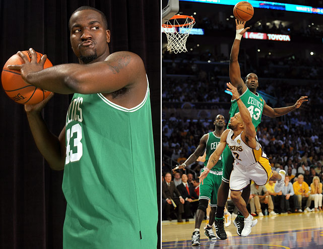 ?Originally committed to the University of Memphis, 6-foot-10 big man Kendrick Perkins opted to make the jump to the pros. A vital role player in the Boston Celtics' 2008 NBA championship, Perkins has made a name for himself as a relentless worker and an imposing presence on the low block. He averaged just over four points per game and 6.2 rebounds per game last season in Oklahoma City.