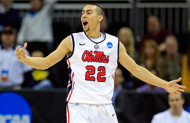 "Mississippi's Marshall Henderson was reprimanded by the NCAA because of an ""inappropriate gesture"" he made during the tournament."