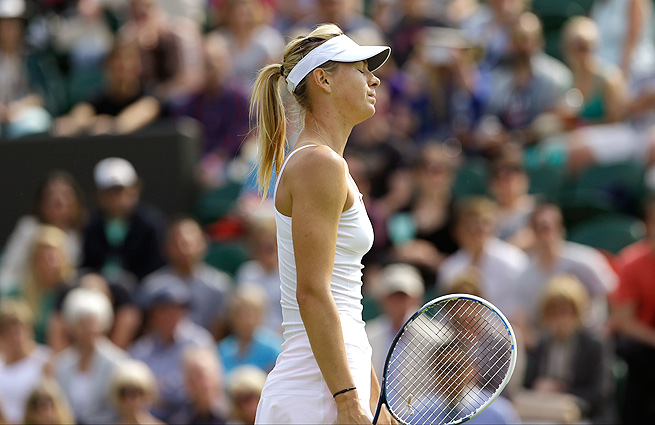 Maria Sharapova was one of seven ex-No. 1 players who failed to advance at Wimbledon on Wednesday.