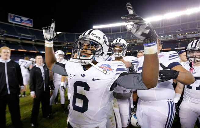 BYU played in the Poinsettia Bowl last season for the first time and beat San Diego State 23-6.