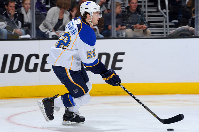 Kevin Shattenkirk had five goals and 18 assists in 48 games last season for the Blues.