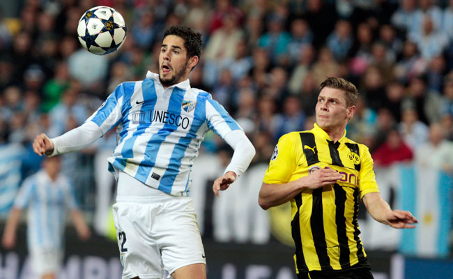With two goals in the Champions League, Isco (left) helped Malaga advance to the quarterfinal round of the tournament last season.