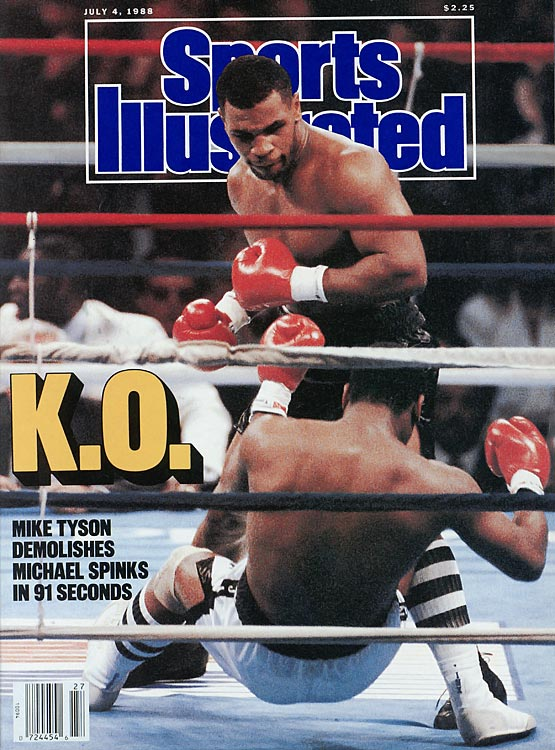 June 27, 2013, marks the 25-year anniversary of Mike Tyson knocking out Michael Spinks in just 91 seconds. To date, it is the sixth-shortest heavyweight title bout in history.