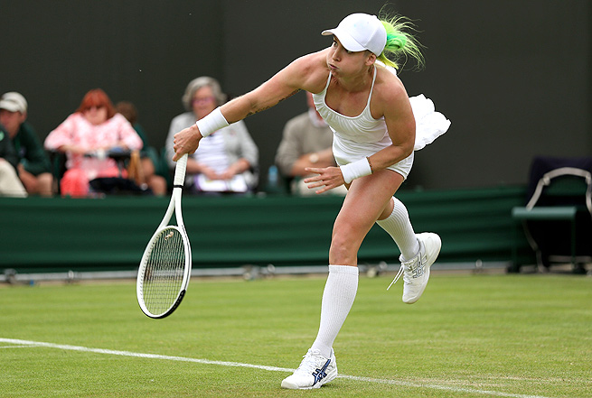 Bethanie Mattek-Sands received some criticism for dying her hair amid Wimbledon's strict all-white policy.
