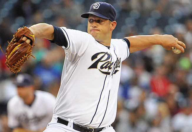 San Diego's Eric Stults has been on a roll, allowing two runs or fewer in each of his last six starts.