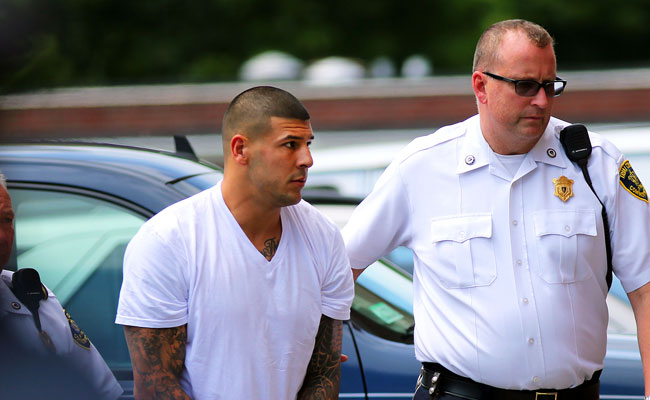 Before playing for the University of Florida, Aaron Hernandez starred for Bristol Central High School.