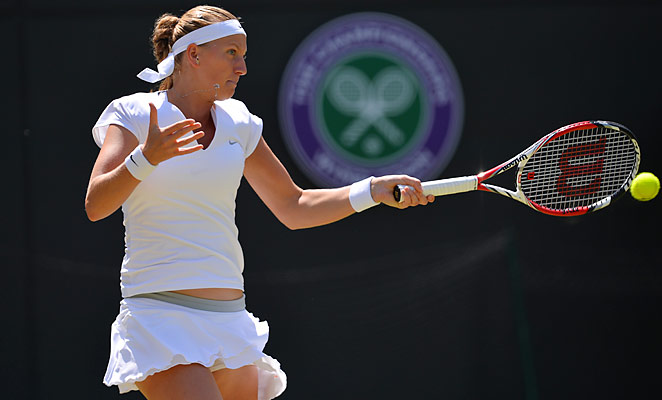 Petra Kvitova rallied to beat Russia's Ekaterina Makarova to reach the fourth round at Wimbledon.