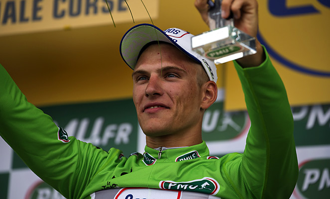 Marcel Kittel won the first stage of the Tour de France after a sprint finish.