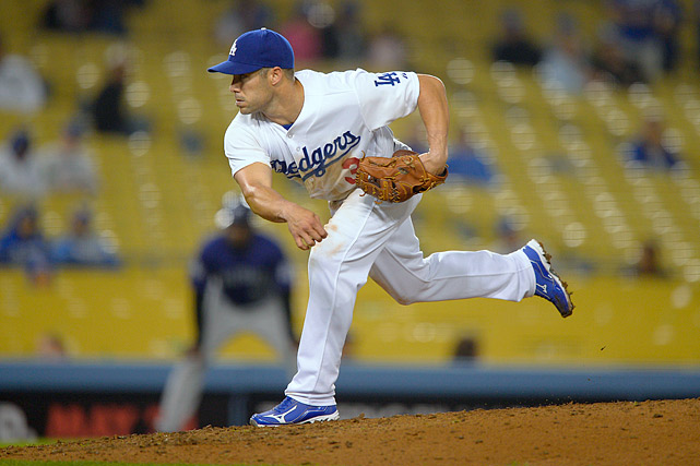 "Utility man Skip Schumaker gave Dodgers skipper Don Mattingly a scoreless ninth inning in a 12-2 loss to the Rockies. ''You don't want to get anybody hurt,"" said Schumaker. ""I don't want to get hurt, I don't want the other team to get hurt throwing a wild pitch. You want the thing over as quick as you can. You don't want it to turn into a circus. We're getting our butt kicked as it is, and I don't want to make a mockery of the game. You're just trying to get it over with as quickly as you can and move on.''"