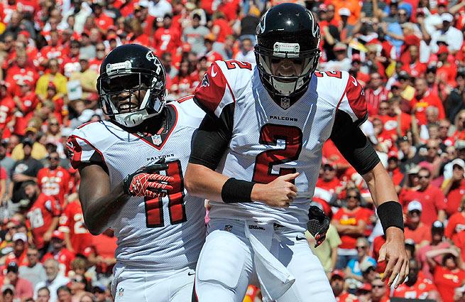 Could Matt Ryan (right) and Julio Jones break the bank in 2013?
