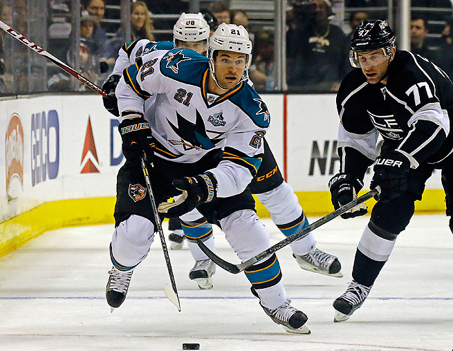 T.J. Galiardi was effective for the Sharks, but was expendable after San Jose acquired two forwards.