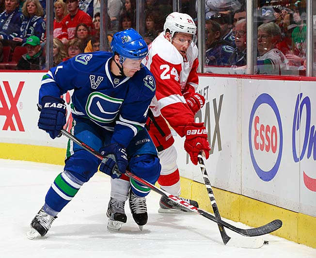 Defenseman Keith Ballard was waived by the Canucks after three seasons in Vancouver.
