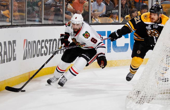 Nick Leddy played in every game for Chicago this season, helping the Blackhawks win the Cup.