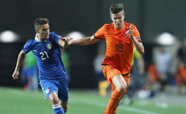 Marco van Ginkel played in the Under-21 World Cup for the Netherlands in June.