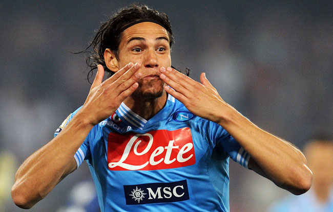 Napoli's Edinson Cavani led Serie A players with 29 goals last season.