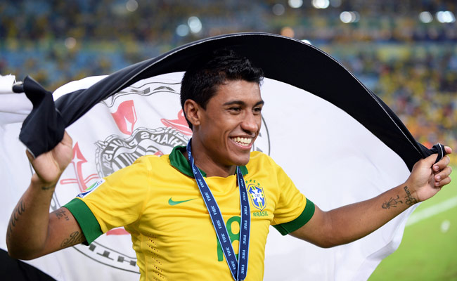 Paulinho was voted the third-best player at the 2013 Confederations Cup.