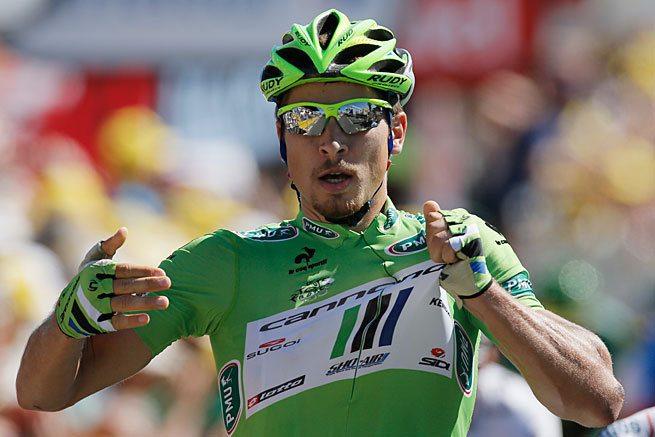Peter Sagan has a big lead in his quest to retain the green jersey as the Tour's best sprinter.